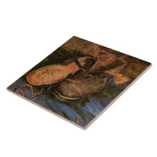 A Pair of Shoes (F333) Van Gogh Fine Art Tile