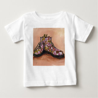 A Pair of Treasured Flowery Boots Baby T-Shirt