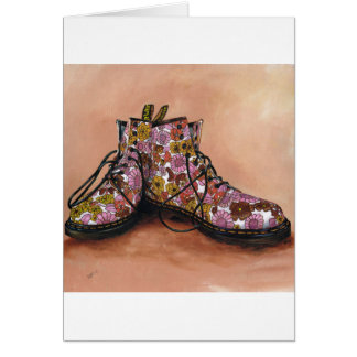 A Pair of Treasured Flowery Boots Card
