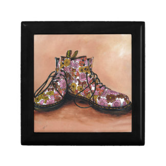 A Pair of Treasured Flowery Boots Jewelry Box