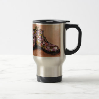 A Pair of Treasured Flowery Boots Travel Mug