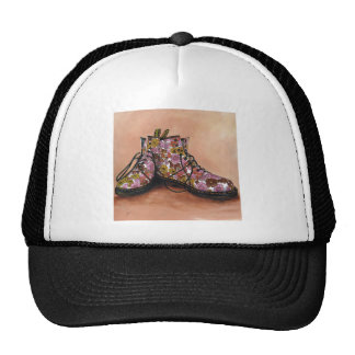 A Pair of Treasured Flowery Boots Trucker Hat
