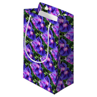 A Pair of Vibrant Morning Glories In Full Bloom Small Gift Bag