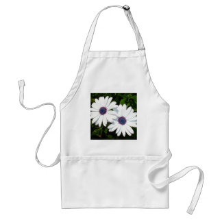 A Pair of White African Daisies Standard Apron