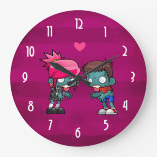 A Pair of Zombies in Love Wall Clock
