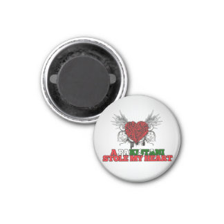 A Pakistani Stole my Heart 1 Inch Round Magnet