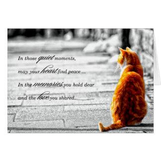 A-PAL - Orange Tabby Cat Pet Sympathy Card