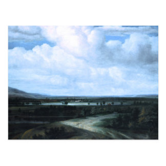A Panoramic Landscape with a Country Estate Postcard