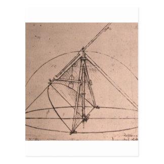 A parabolic compass postcard