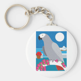 A Parrot in Paradise Keychain