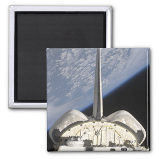 A partial view of Space Shuttle Endeavour Square Magnet