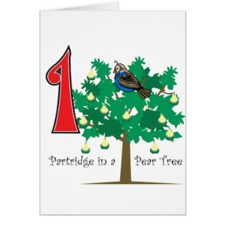 A Partridge in a Pear Tree Card