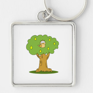 A Partridge in a Pear Tree Keychain