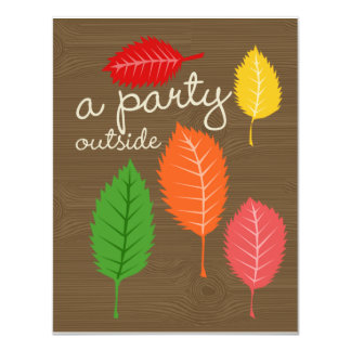 "a party outside 4.25"" x 5.5"" invitation card"