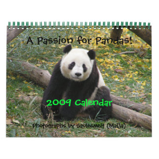 A Passion for Pandas!, 2009 Calend... - Customized Wall Calendars