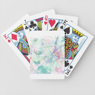 A Pastel Garden Bicycle Playing Cards