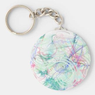 A Pastel Garden Keychain