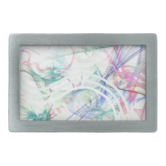 A Pastel Garden Rectangular Belt Buckles