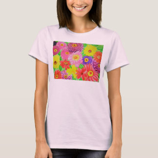 A Patch of Zinnias Watercolor T-Shirt