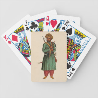 A Pathan Soldier Bicycle Playing Cards