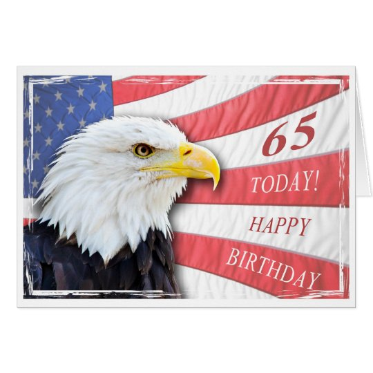 A patriotic 65th birthday card