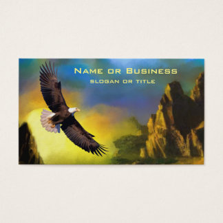 A Patriotic Design with Bald Eagle Flying High Business Card