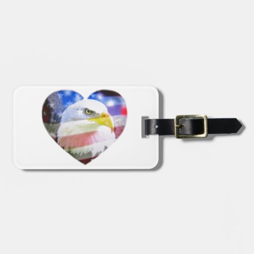 A Patriotic Heart Tag For Bags