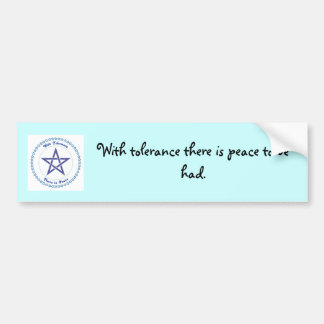 A peaceful message bumper sticker