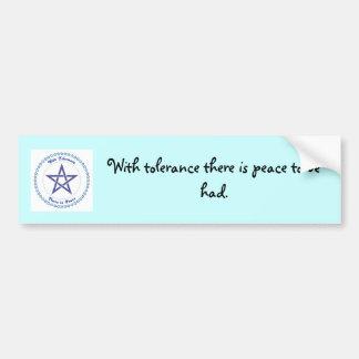 A peaceful message bumper sticker