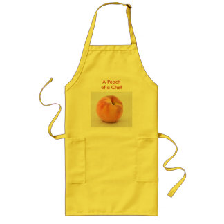 A Peach of a Chef Long Apron