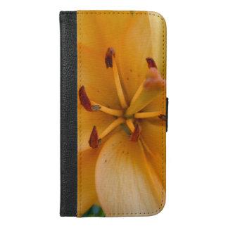 A Peachy Orange Lily iPhone 6/6s Plus Wallet Case