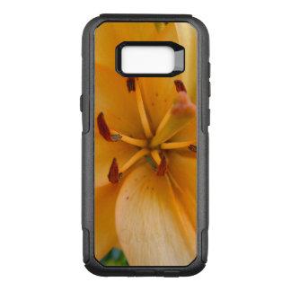 A Peachy Orange Lily OtterBox Commuter Samsung Galaxy S8+ Case