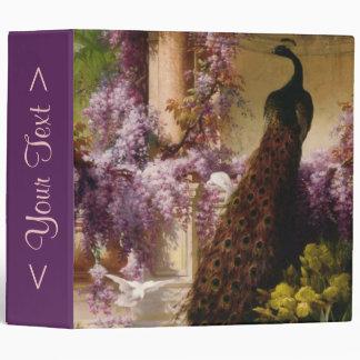 A Peacock and Doves in a Garden Vinyl Binder