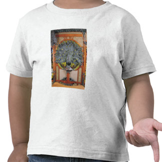 A peacock from the central panel of a mural shirts