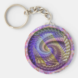 A Peacock Spiral Keychain