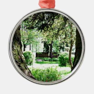 A Peak Of Nature.JPG Silver-Colored Round Ornament