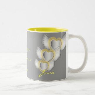 A Pearl For June Mug- Customized Two-Tone Coffee Mug