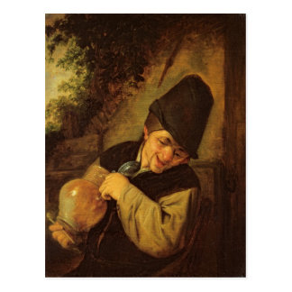 A Peasant Holding a Jug and a Pipe, c.1650-55 Postcard