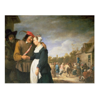 A Peasant Wedding, 1648 Postcard