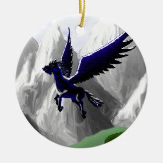A Pegasus Flying Ceramic Ornament