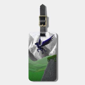 A Pegasus Flying Luggage Tag