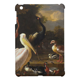A Pelican and Other Birds Near a Pool iPad Mini Case