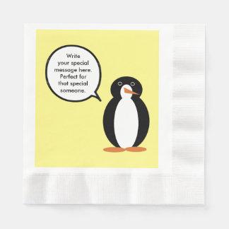 A Penguin Birthday Suit Disposable Napkin