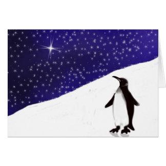 A penguin's Christmas wish Card
