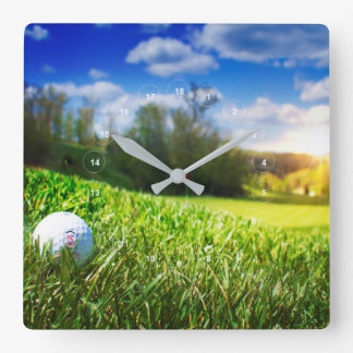 A perfect day for the course square wall clock