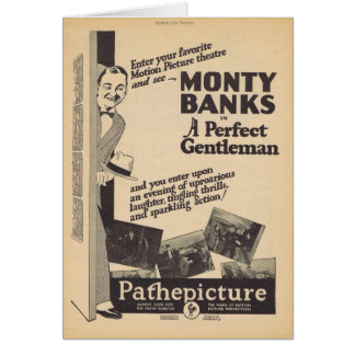 A Perfect Gentleman Monty Banks movie ad Card