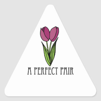 A Perfect Pair Triangle Sticker