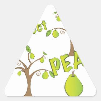 A Perfect Pear Triangle Sticker