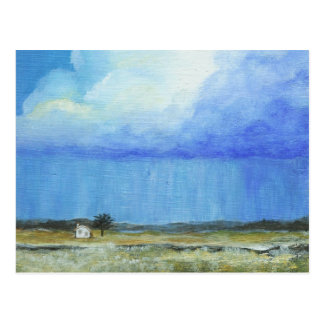 A Perfect Storm, Abstract Art Landscape Painting Postcard