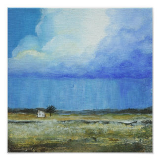 A Perfect Storm Abstract Art Landscape Painting Poster